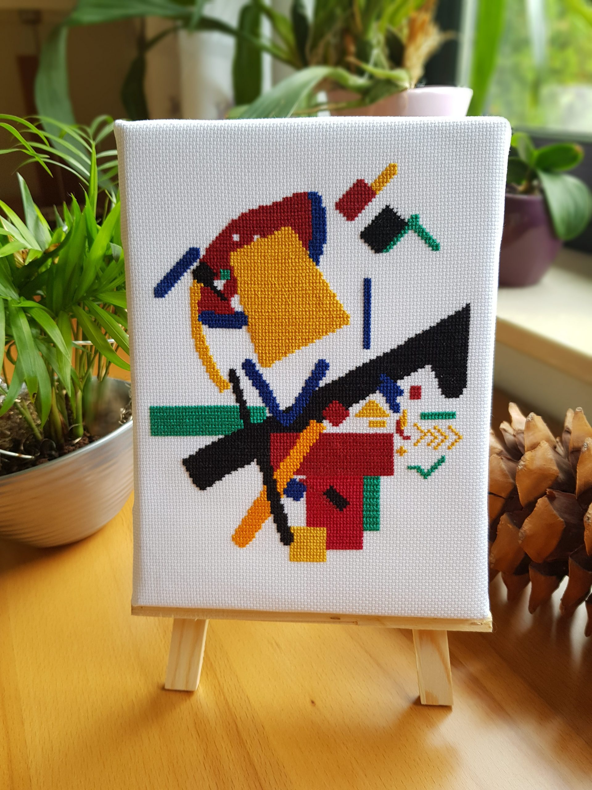 Stitched modern art – Abstract and Suprematism
