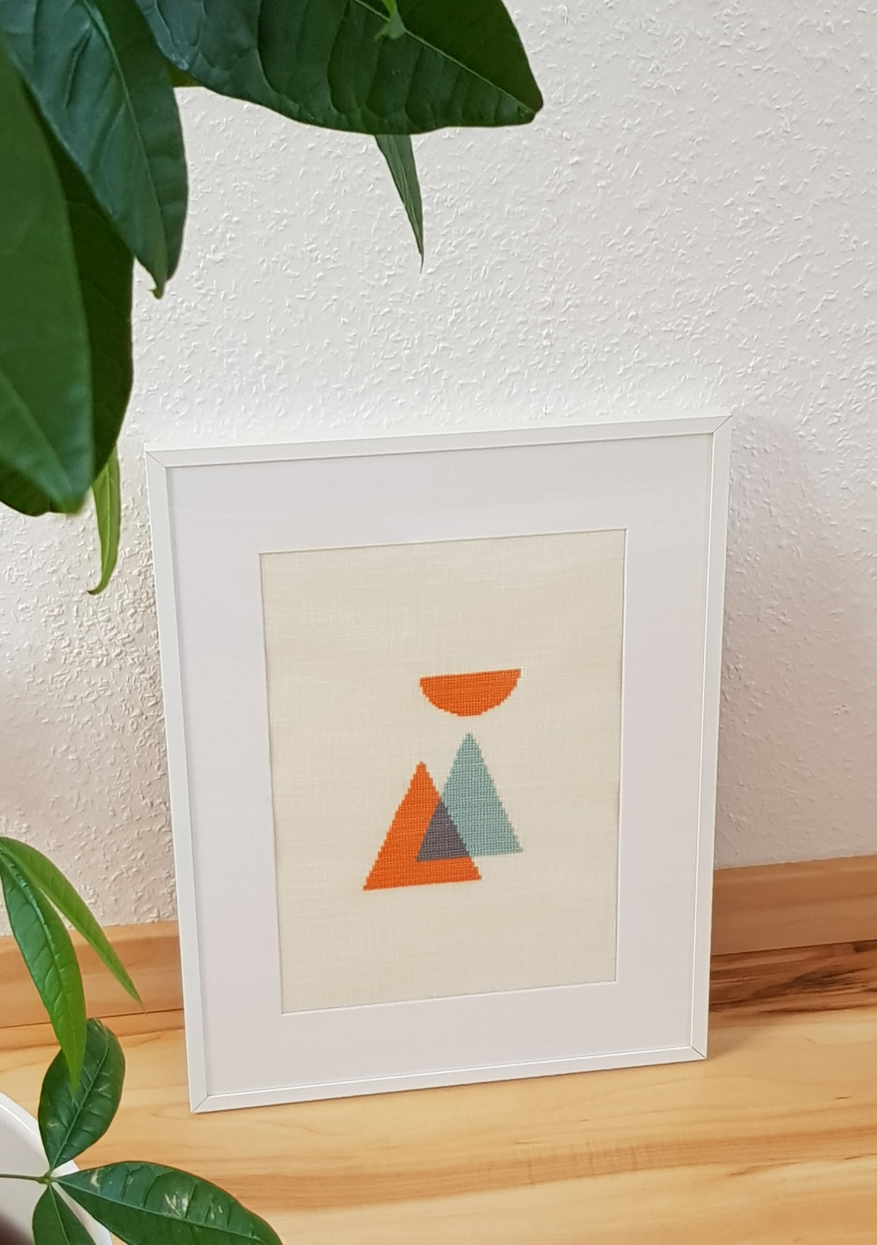 Minimalist cross stitch design