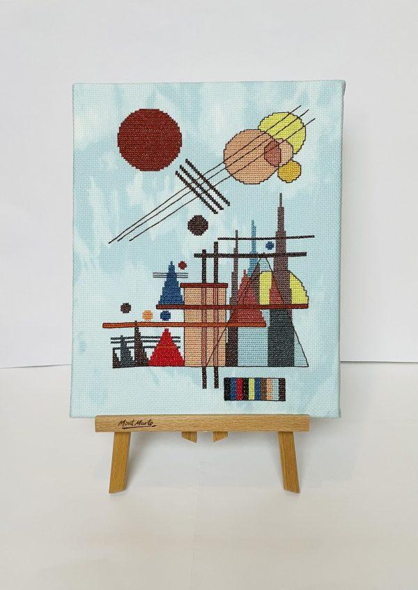 abstract cross stitch